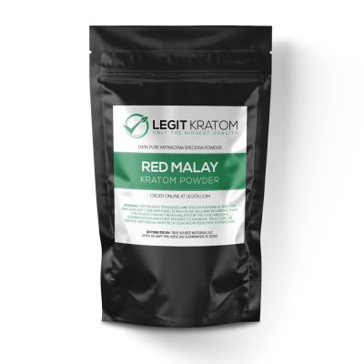 Red Malay Kratom Powder Bag