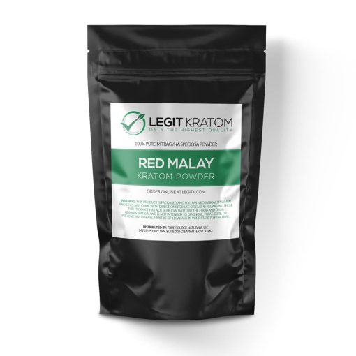 Red Malay Kratom Powder Bag